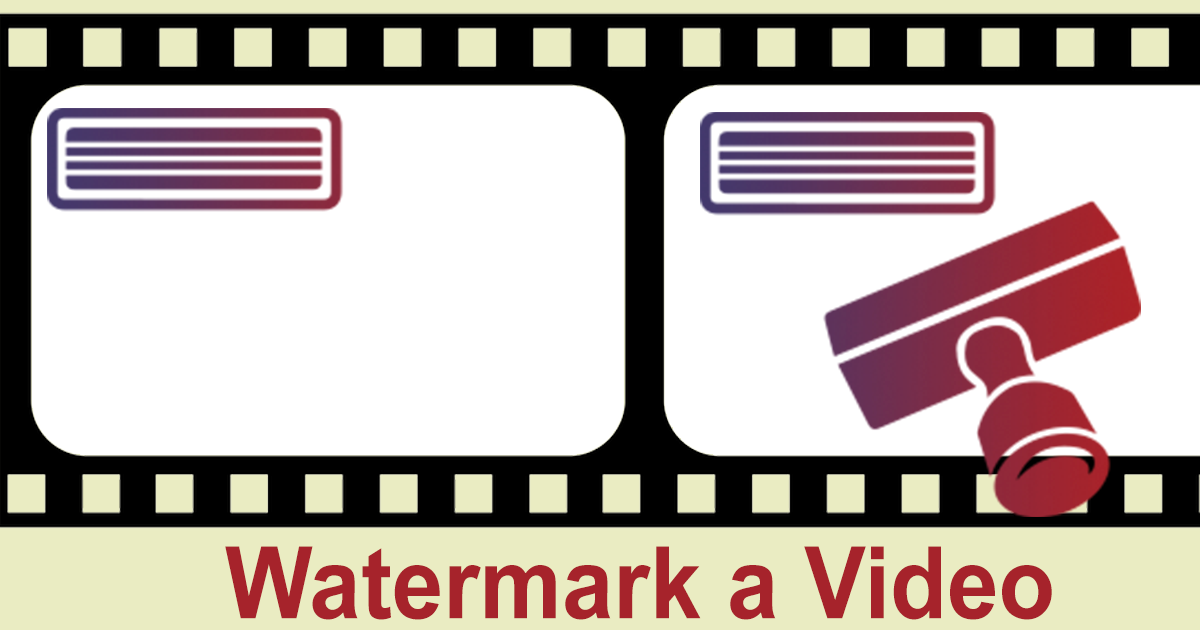 add watermark to video free online