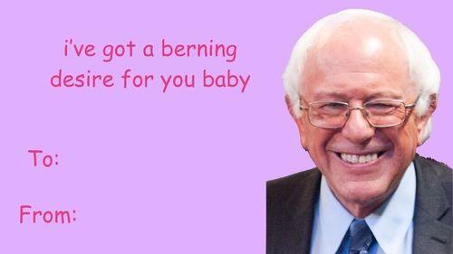 bernie sanders valentines meme