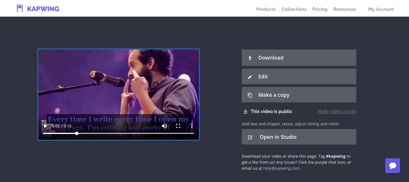 Create a Video and Subtitles for an Original Slam Poem