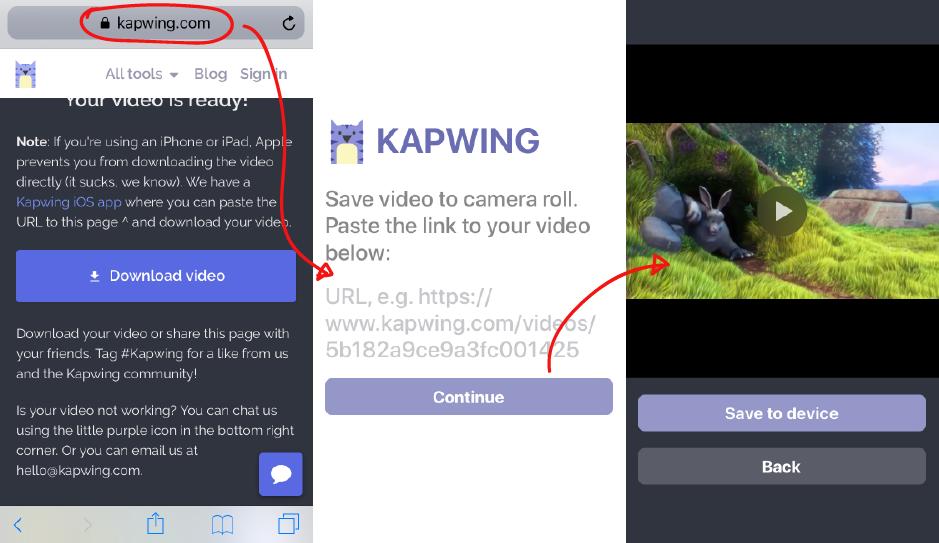ios safari download video
