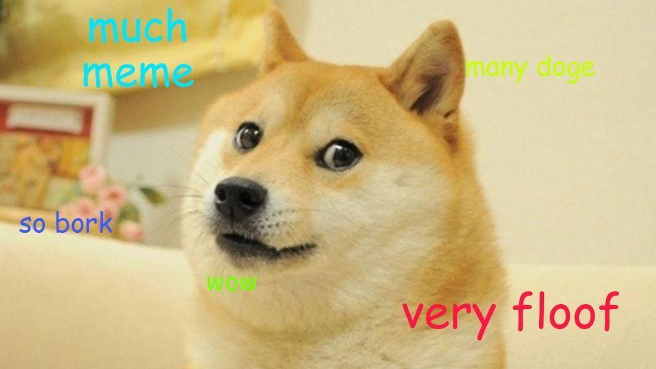 A Doge Shibe style meme with Comic Sans MS font.
