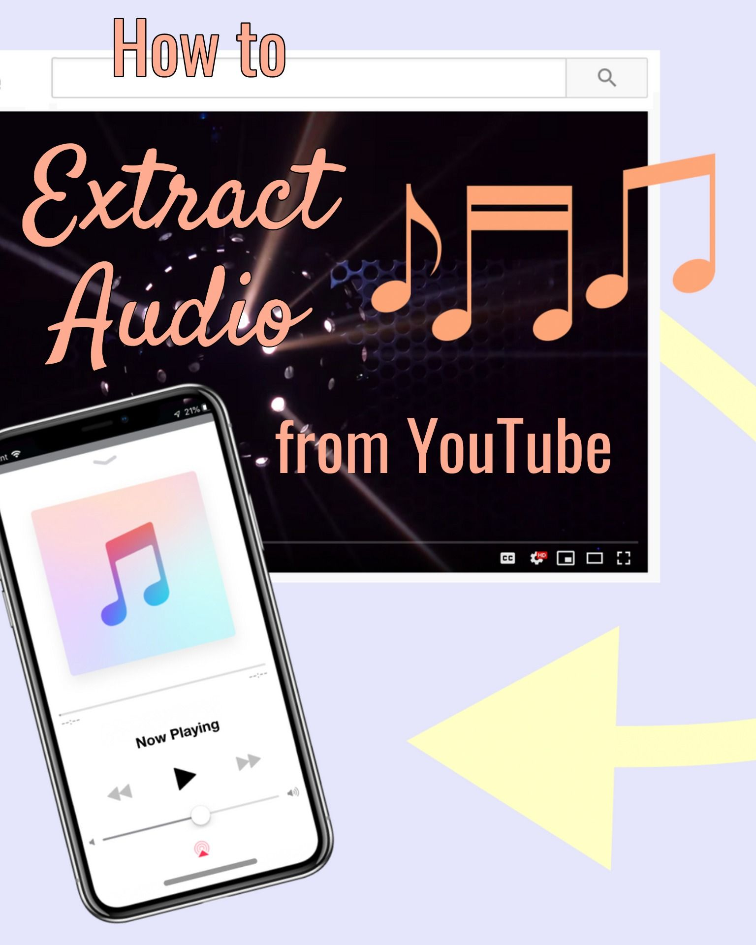 How to Extract Audio from YouTube Videos for Free -- Music Converter Songs