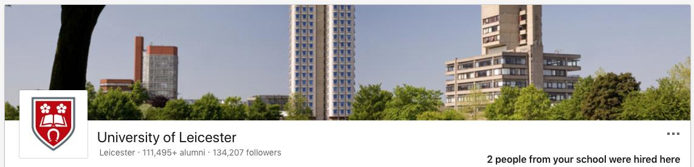 LinkedIn business profile banner