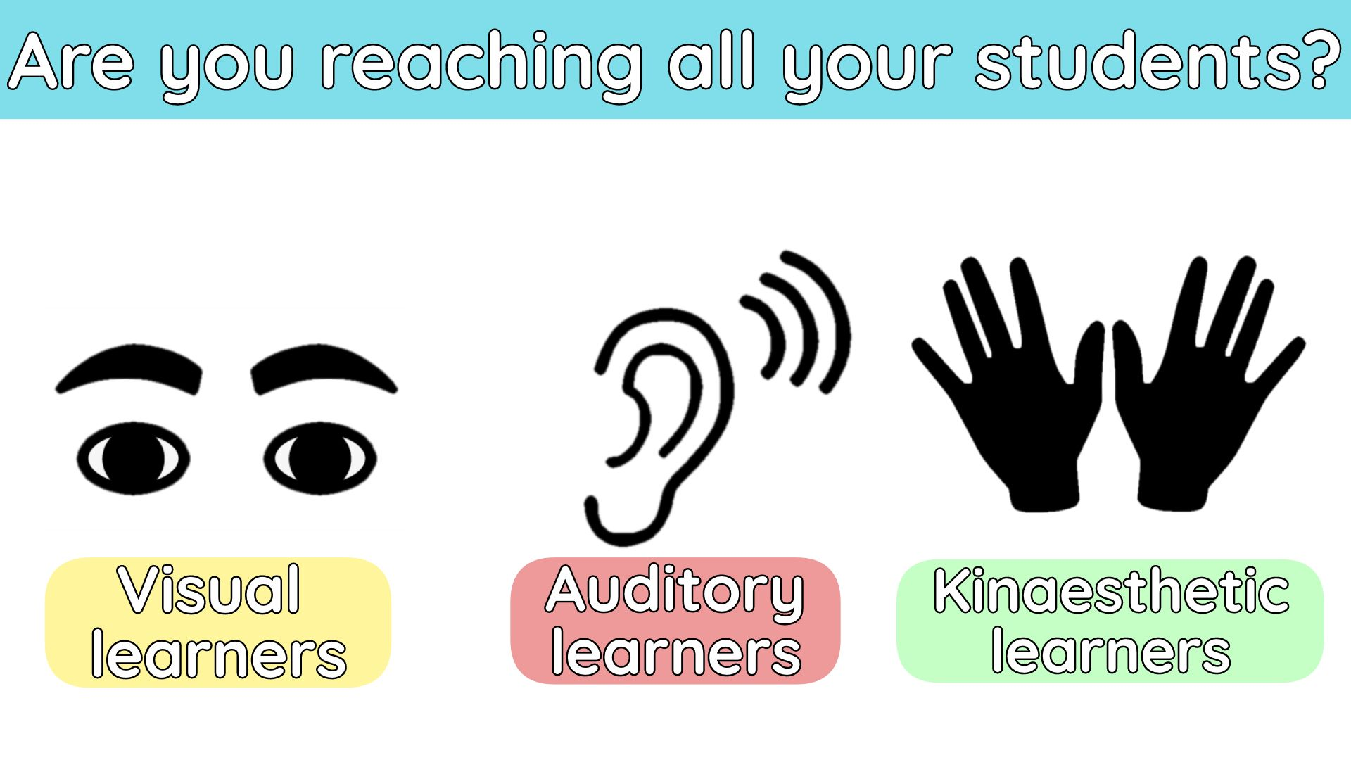 An infographic spotlighting the three types of learners.