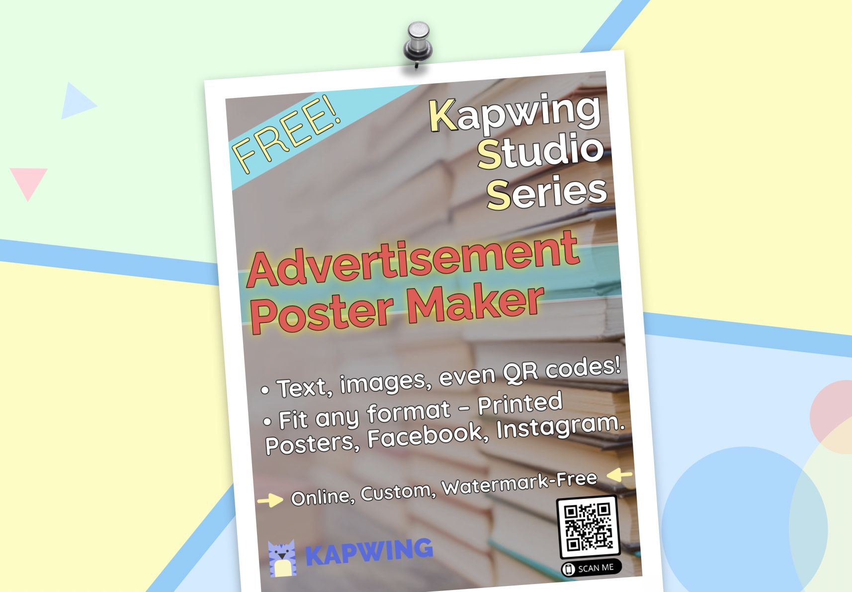 create advertisement posters from