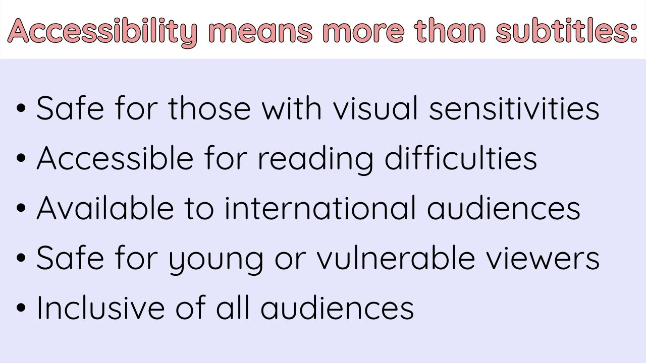 A list of non-obvious forms of digital accessibility and inclusivity.