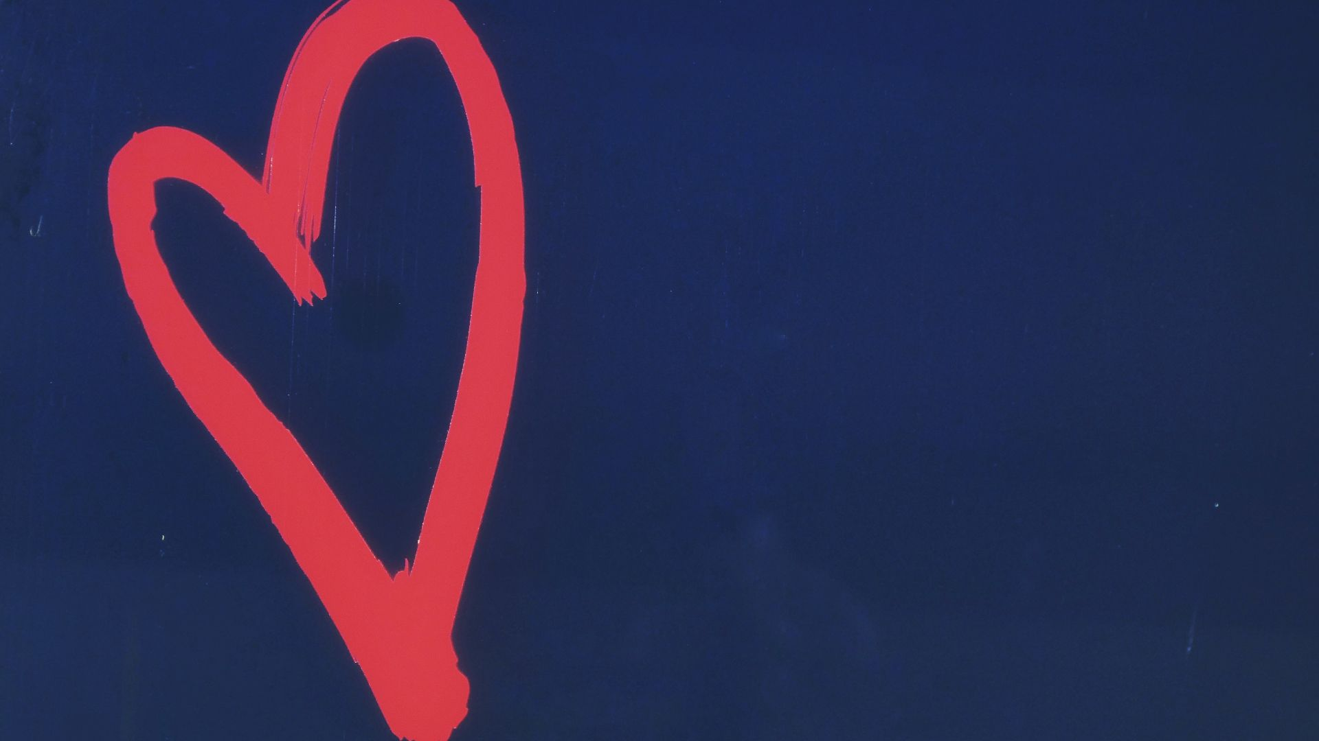 blue background with a red heart