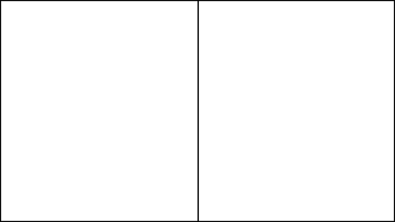 A 2-panel template for web comics, in a 16:9 aspect ratio.