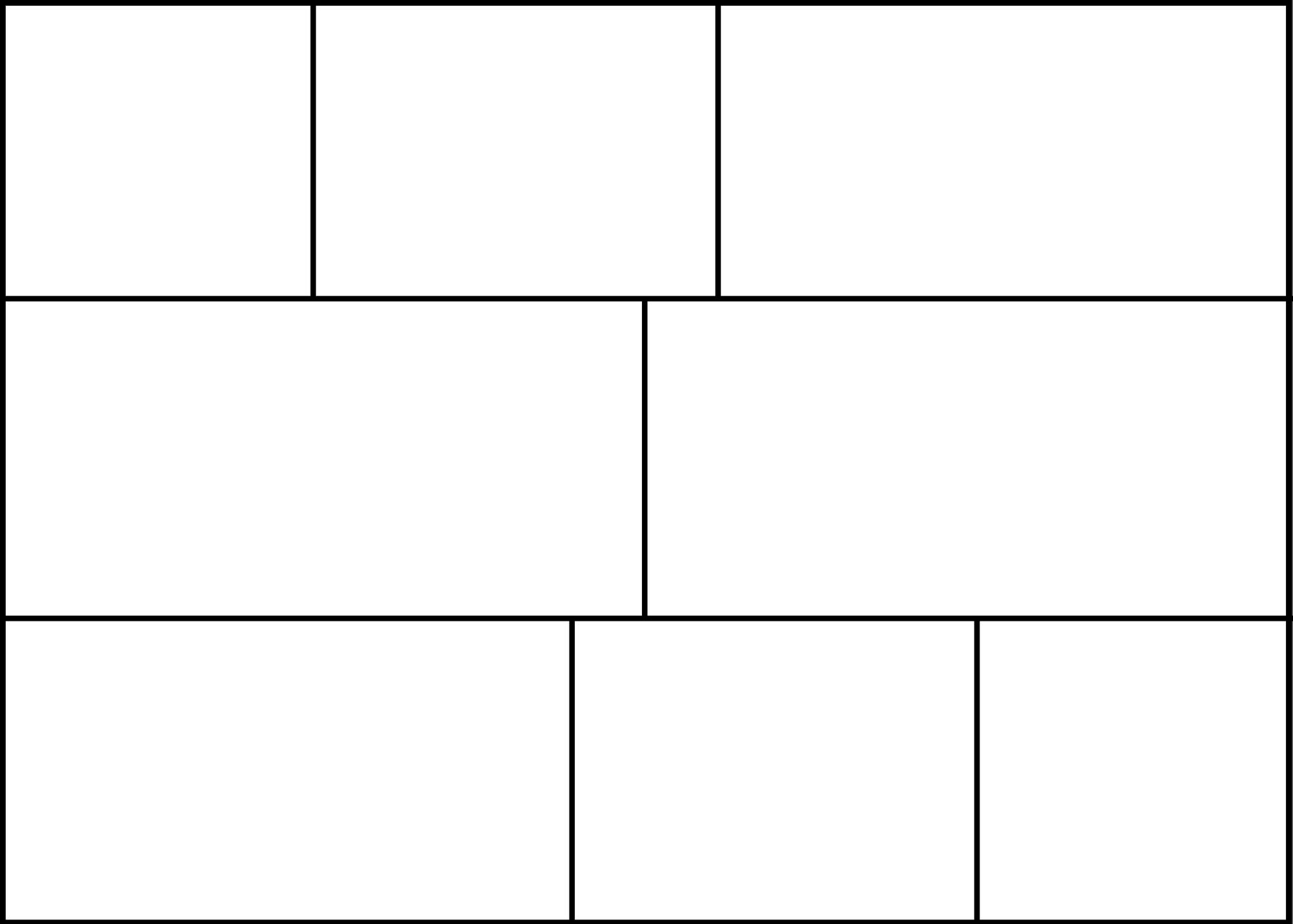 An 8-panel comic strip template with a 7:5 aspect ratio.