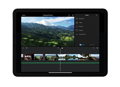 IMovie on iPad screenshot