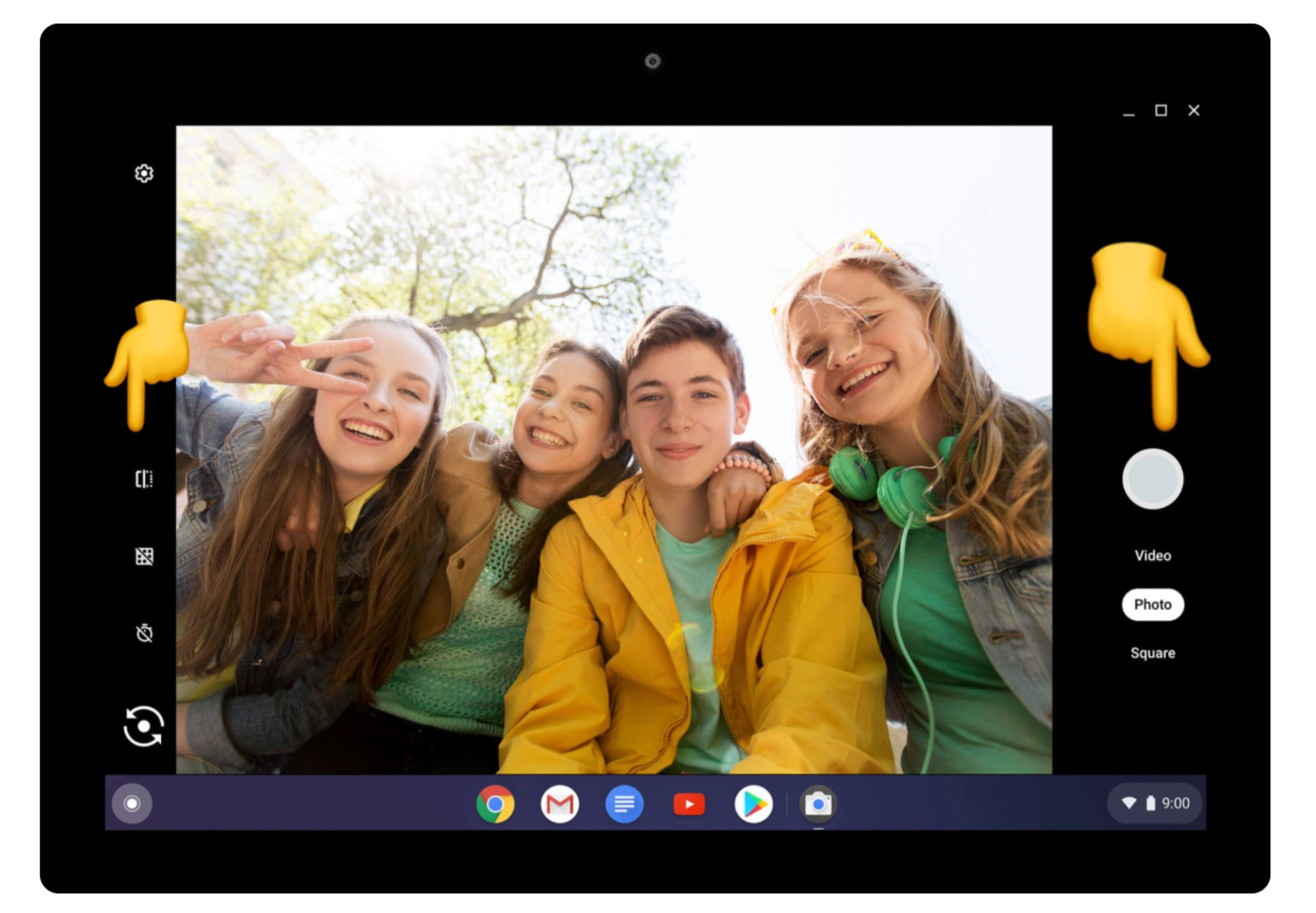 screenshot of how to take a picture on a chromebook