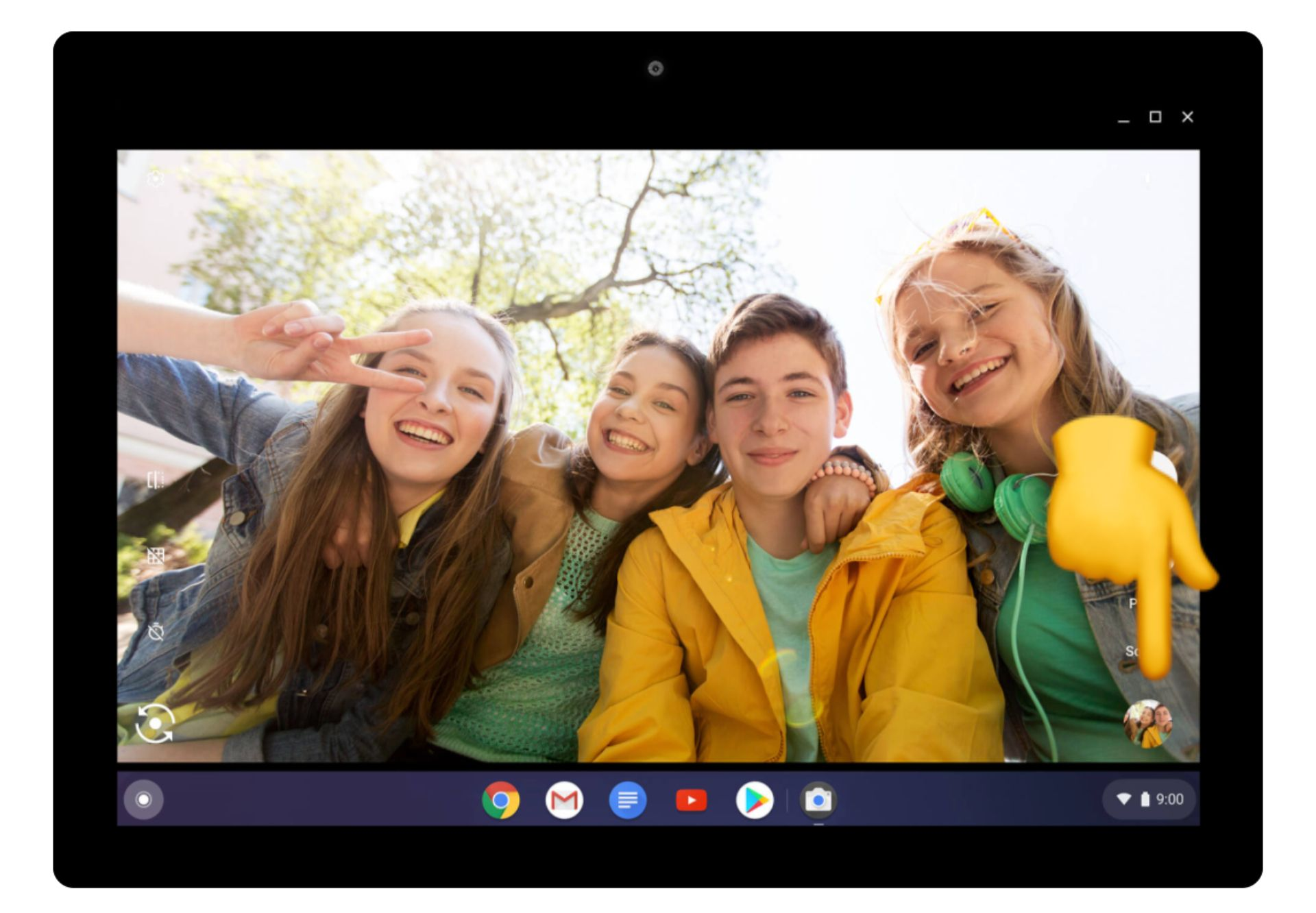 screenshot of where a thumbnail in located on a Chromebook