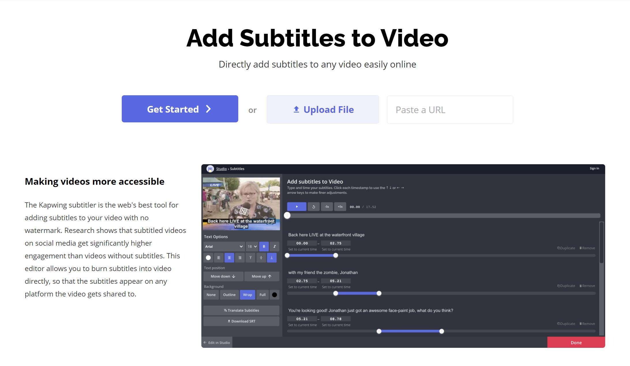 Add Subtitles to Video on iPad on Kapwing