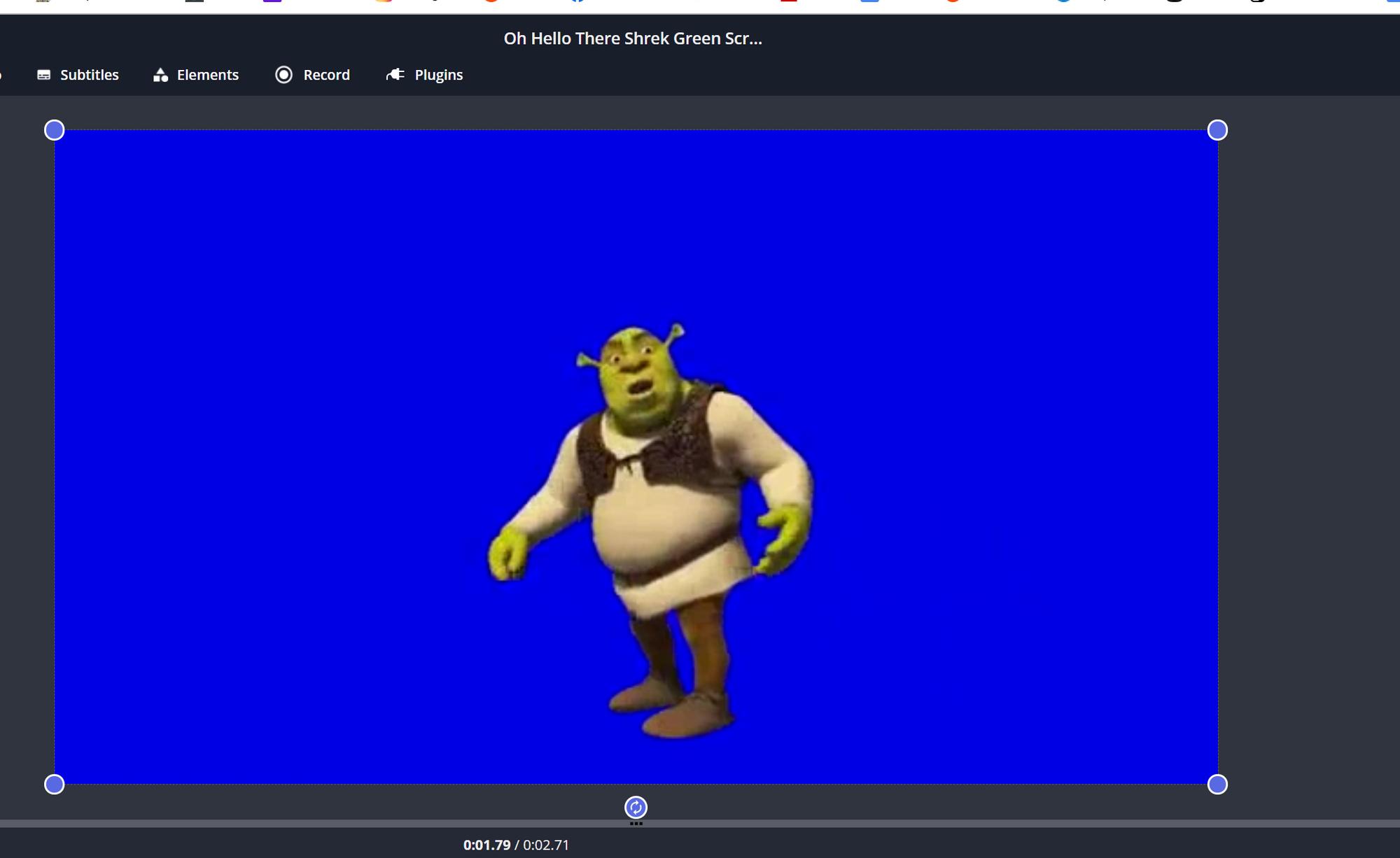 Shrek blue screen for chroma key memes