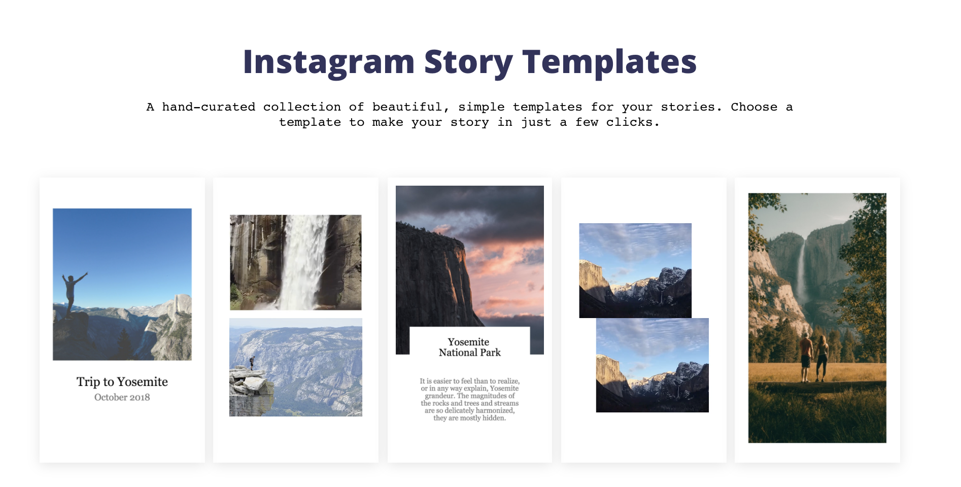 Kapwing's Instagram Story Templates