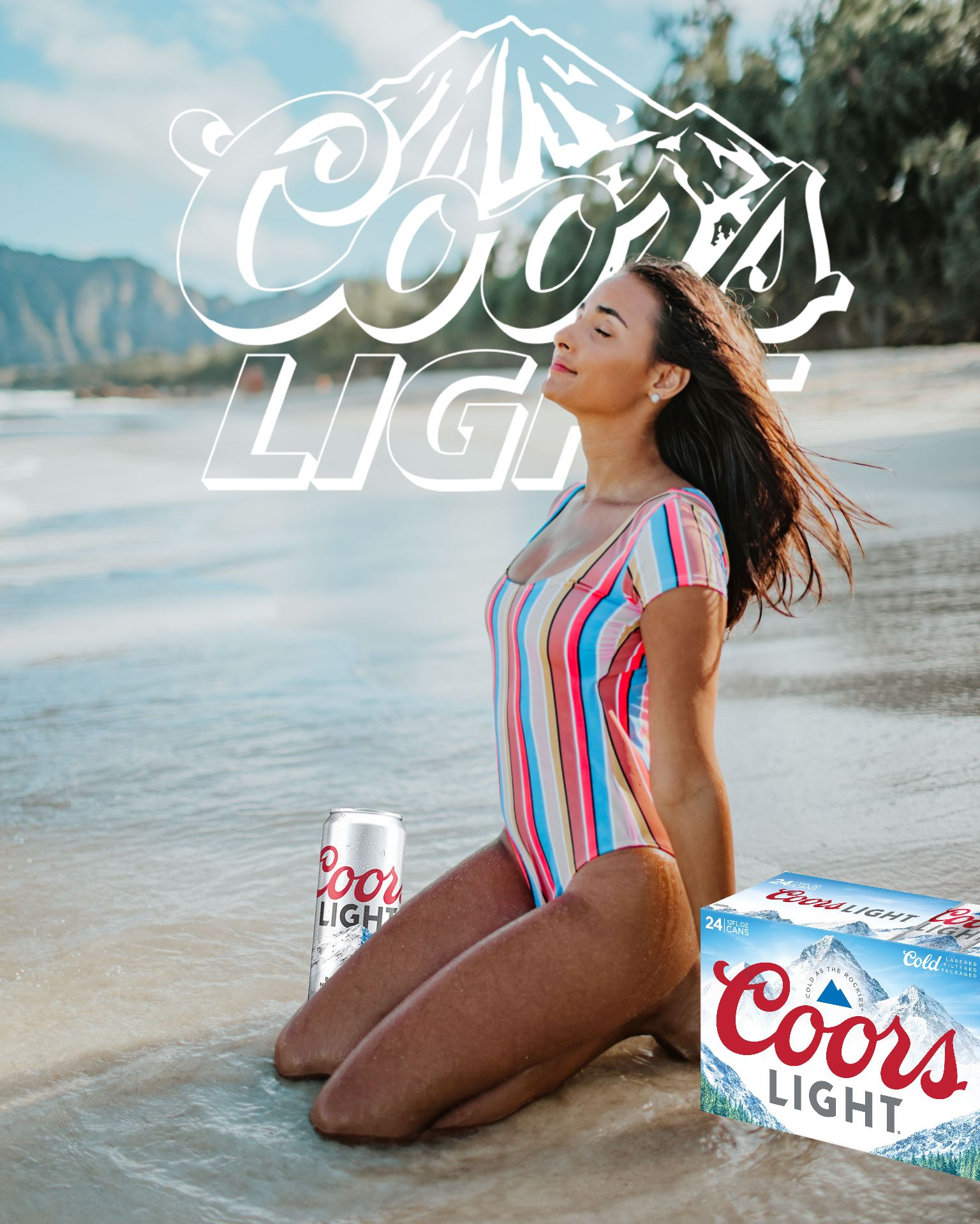 An example of the TikTok Beer Poster trend using the Coors Lite brand.
