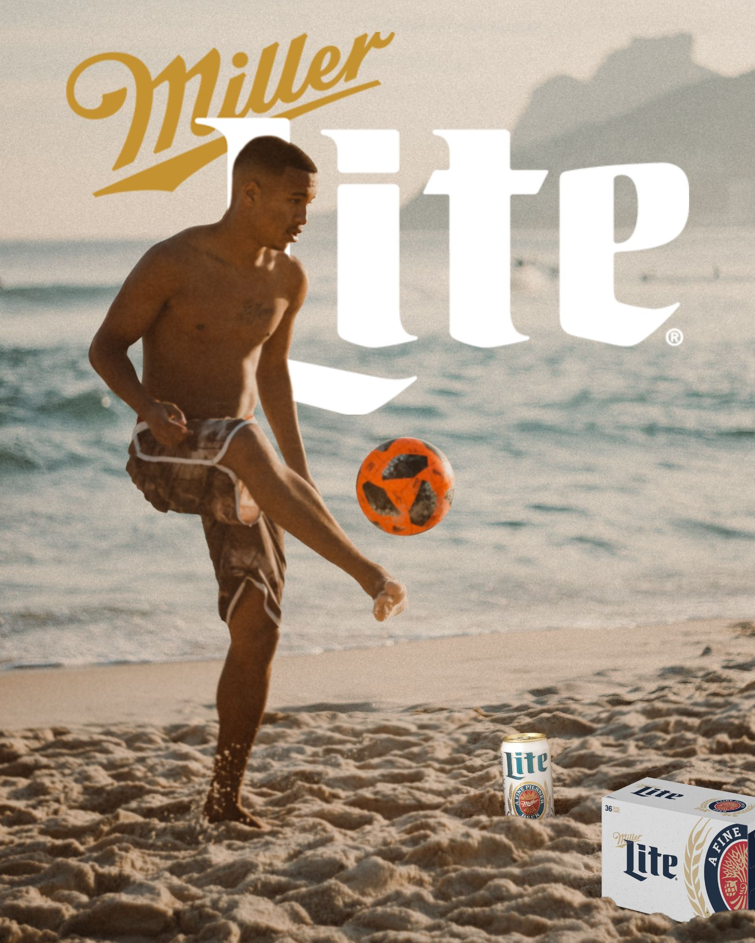 An example of the TikTok Beer Poster trend using the Miller Lite brand.