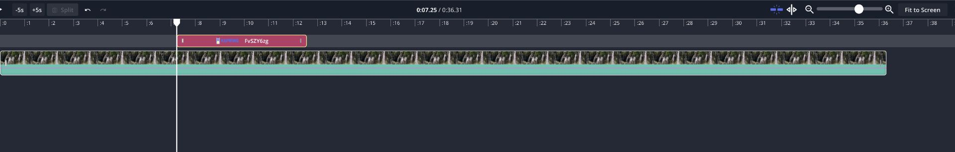 A screenshot of the Kapwing Timeline viewer.