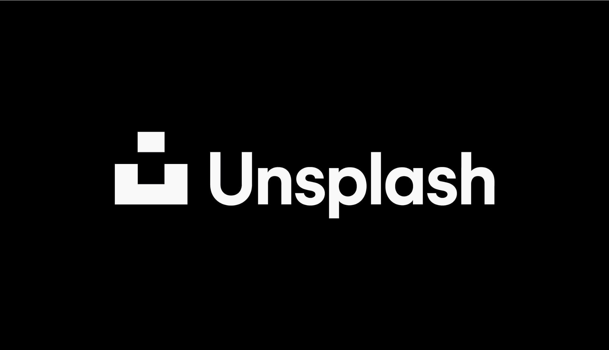 The Unsplash logo.