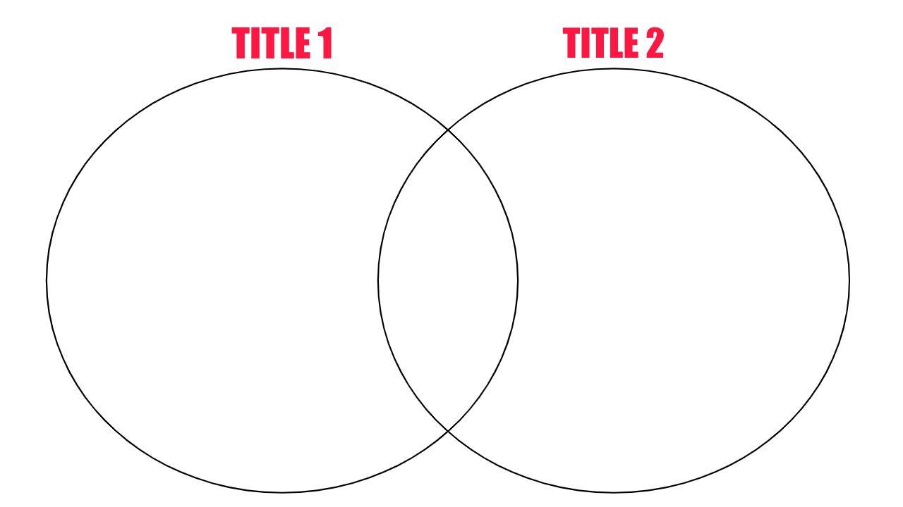 An example Venn Diagram Template.