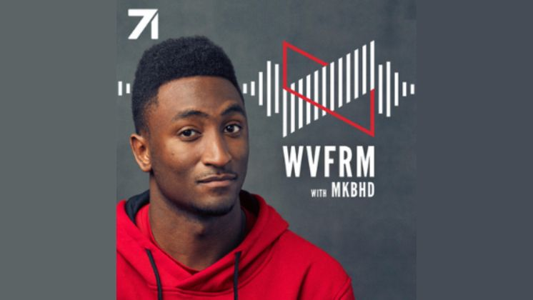 The cover art for the Waveform podcast from MKBHD.