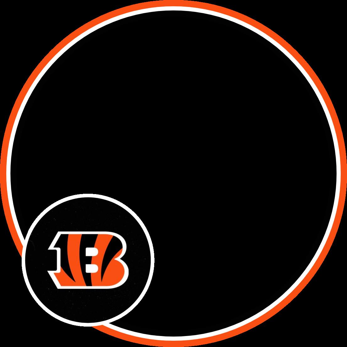 A transparent NFL profile picture frame for the Cincinnati Bengals.