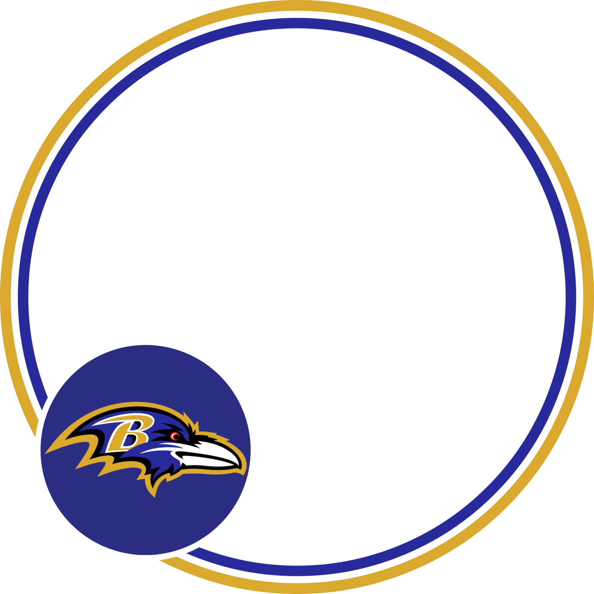 A transparent NFL profile picture frame for the Baltimore Ravens.