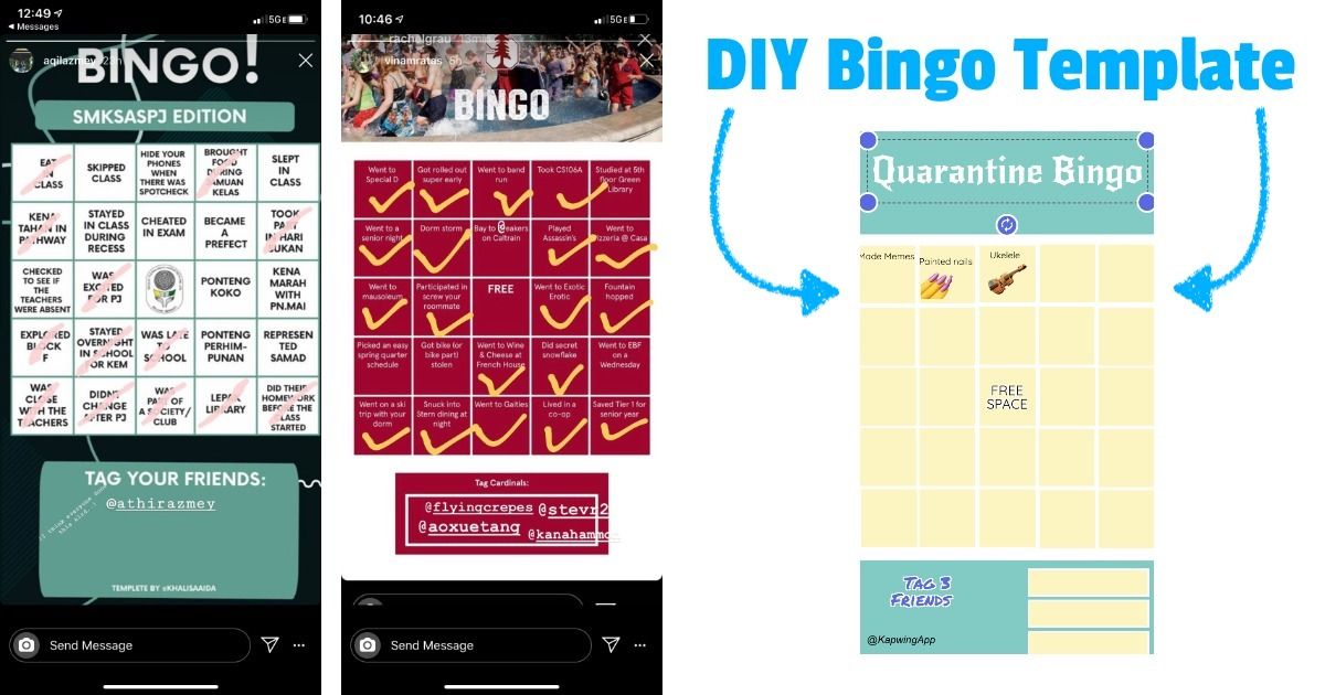 How to Make a Custom Instagram Bingo Template