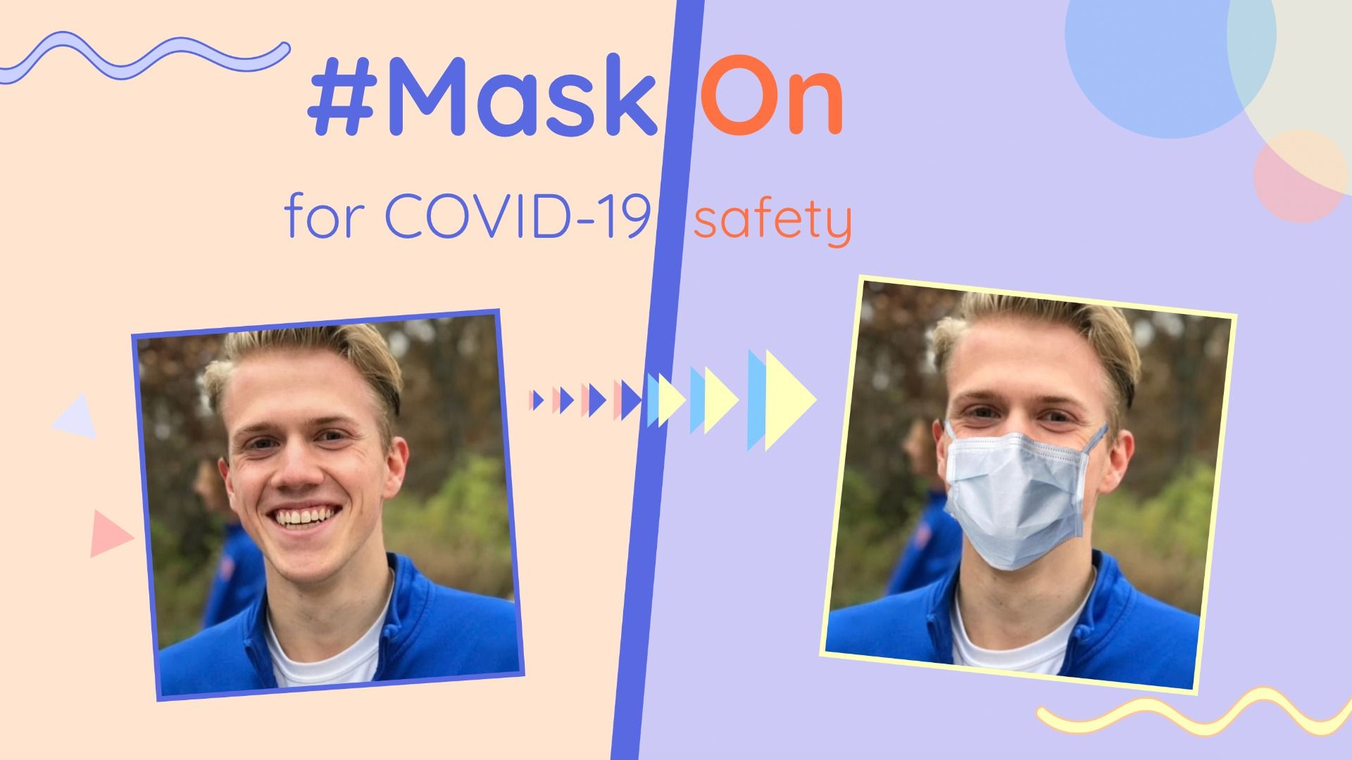 People have been adding masks to their profile pics to promote COVID-19 safety – Get your #MaskOn with this template!