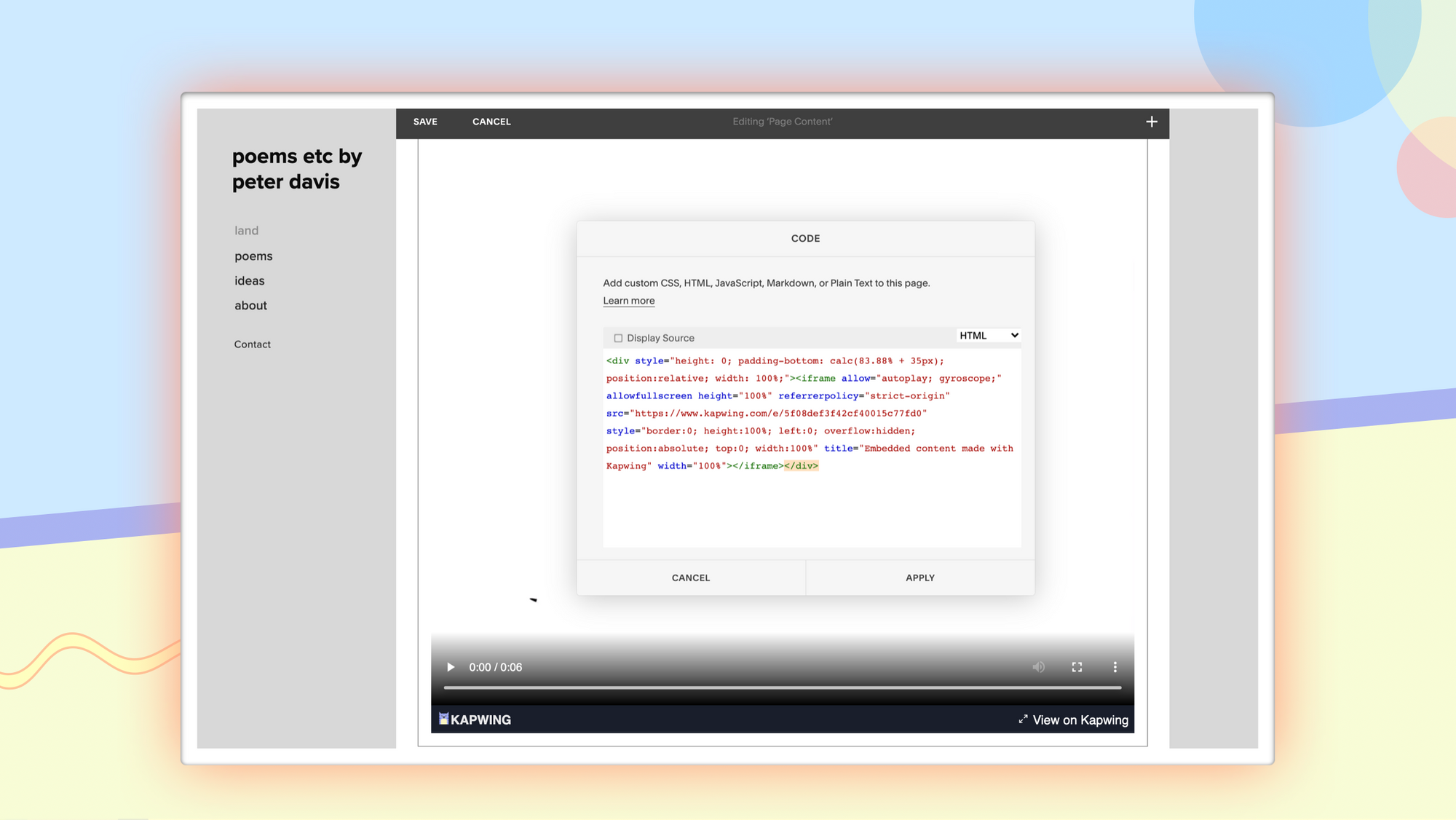 How to Embed Videos in Your Portfolio Website