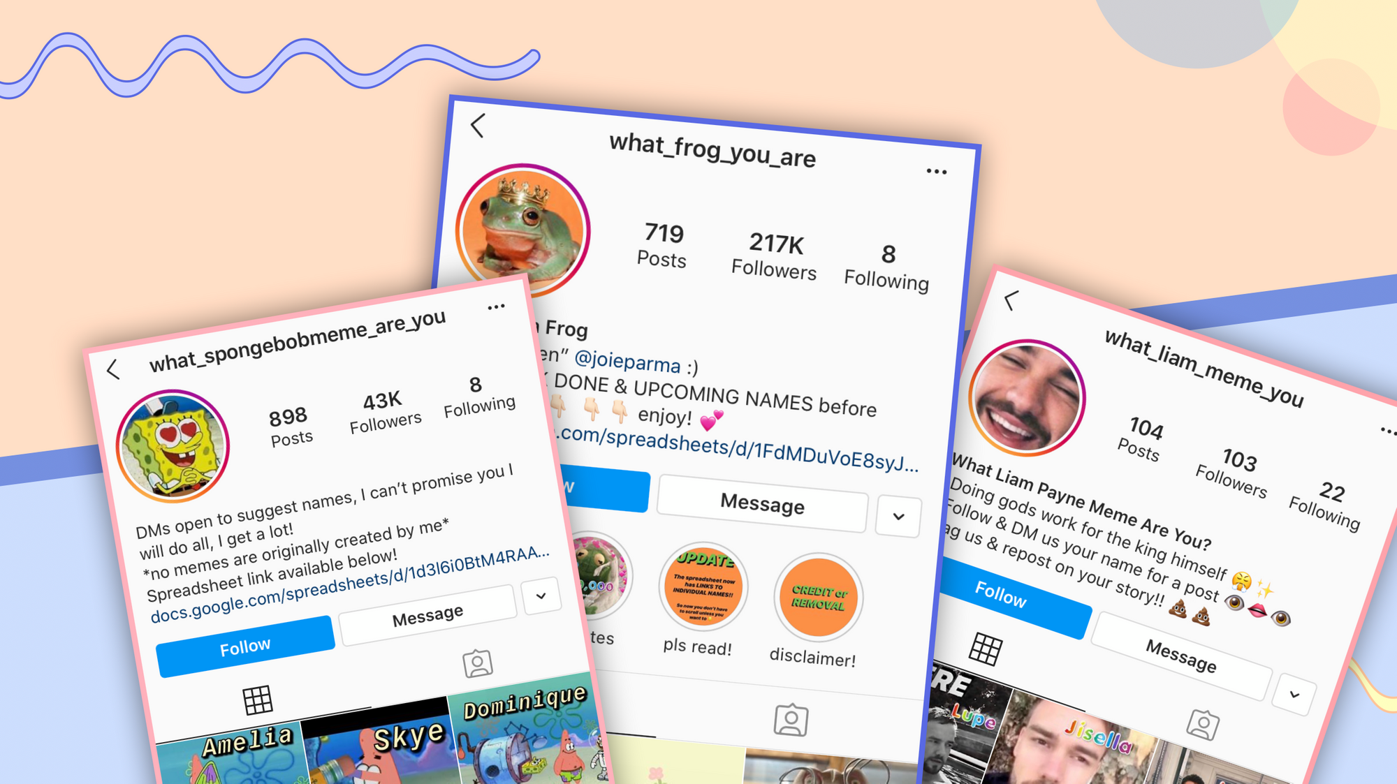 """What ____ Are You"" Name Instagram Accounts: How to make your own"