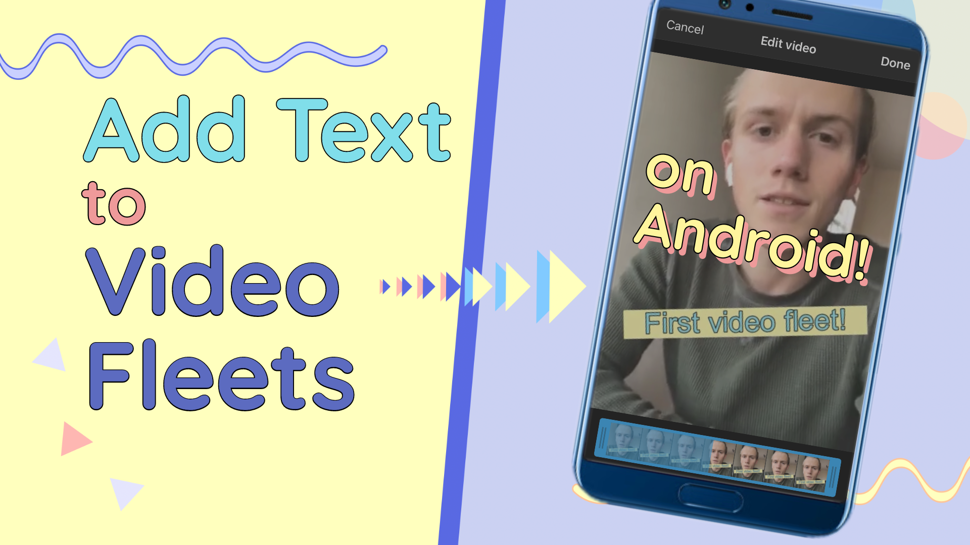 How to Add Text to Video Fleets on Android