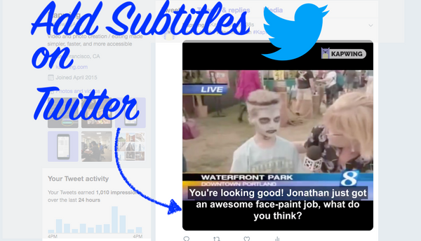 How to Add Captions to a Twitter Video