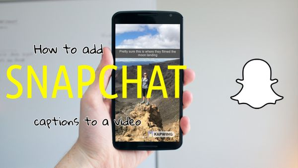 How to Add a SnapChat Caption to a Video