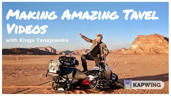 On The Road: How To Make Amazing Travel Videos From Your Bike
