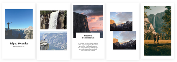 Beautiful, Minimal Stories with Instagram Story Templates