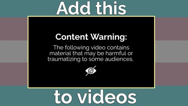 How to Add a Content Warning to any Video For Free