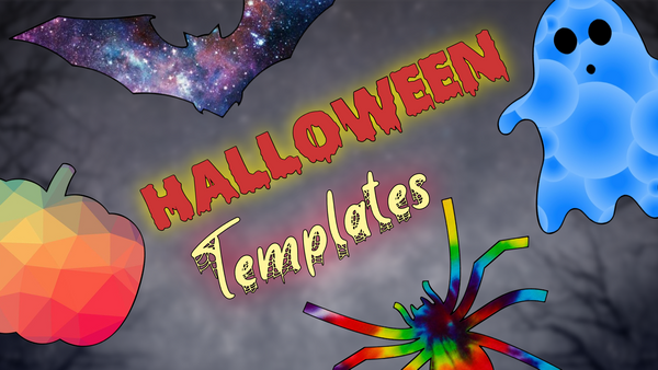 5 Printable Halloween Templates for 2020: Bat, Pumpkin, Spider, Ghost, Party Invite