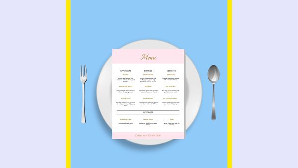 How to Design a Menu (Template Included)