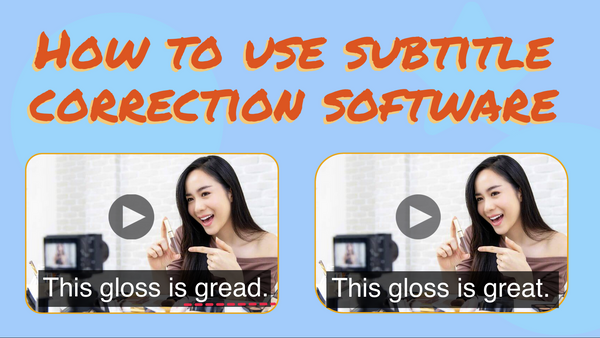 How to Use Subtitle Correction Software