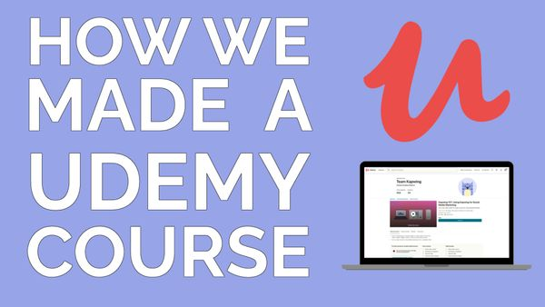 How I Created My First Udemy Course From Scratch